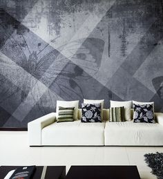 Panoramic wallpaper BUTTERFLY Geometric Collection by N.O.W. Edizioni