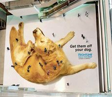 Very unique way to promote a pet medicine - utilizes consumers as part of the ad - very clever!