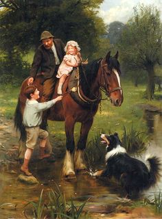 A Helping Hand Artwork By Arthur John Elsley Oil Painting & Art Prints On Canvas For Sale Arte Equina, Illustration Art, Illustrations, Collie Dog, Victorian Art, Oil Painting Reproductions, Equine Art, Horse Art, Animal Paintings