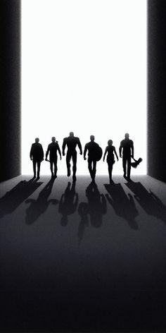 Avengers: Endgame, silhouette, black and dark art, 1080x2160 wallpaper