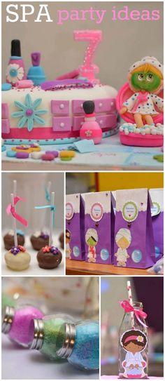"""Little spa / Birthday """"Spa party para festejar los 7 añitos de Vale """" Más"""