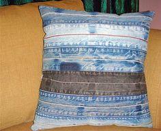 denim-like the pillow at yoders in shipshe Denim Art, Denim Ideas, Denim Crafts, Recycled Denim, Scrap, Couture, Crochet, Denim Furniture, Plush Pillow