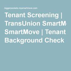 Tenant Screening | TransUnion SmartMove | Tenant Background Check