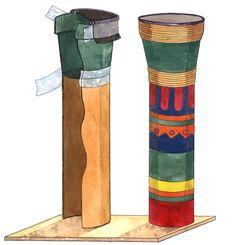 Make a Drum (Dumbek/Darbuka): Multicultural Art and Craft Lessons for Kids: KinderArt ®