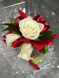 61 best our prom corsages images on pinterest prom corsage wristlet corsage with white spray roses red ribbon clear rhinestones and silver sparkle accents red corsageswhite corsageprom mightylinksfo