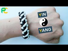 How to make Paracord Bracelet Yin & Yang Paracord Keychain, Paracord Bracelets, Survival Bracelets, Paracord Tutorial, Bracelet Tutorial, Yin Yang, Snake Knot, Homemade Bracelets, Girl Scout Crafts