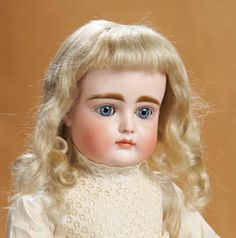 Beautiful German Bisque Closed Mouth Doll, XI, by Kestner 1200/1600 Auctions Online | Proxibid