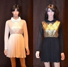 New Womens SS13 Sexy Lace Embellished Pearl Casual Evening Party Dress Gold UK