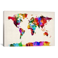 Australia paint splashes map by michael tompsett paint splash and icanvas map of the world abstract painting ii by michael tompsett graphic gumiabroncs Image collections