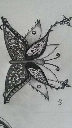 Butterfly sketch for a sternum/chest tattoo :) DRAWN BY ME :D :3