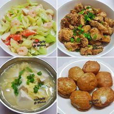Stir-fried celery with prawn  Black pepper chicken  Tofu egg  Cheese  tofu  . .  #sgfood #sg #dinnertime #dinner #homecooked #homemade #shrimps #driedshrimp #chicken #prawns #blackpepper #vegetables  #veggies #soup #celery #cheese #cheesetofu #stirfry #egg #healthyeating #healthyfood  #asian #happy #familymeal#dinnertime #dinner