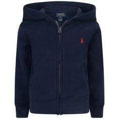 Ralph Laureb Boys Navy Jersey Zip Up Top