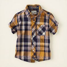 baby boy - short sleeve tops - plaid shirt | Children's Clothing | Kids Clothes | The Children's Place. Hendrik/Wall-E