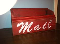 Handmade Rustic Mail Organizer by ASimplePeacePlace on Etsy, $25.00