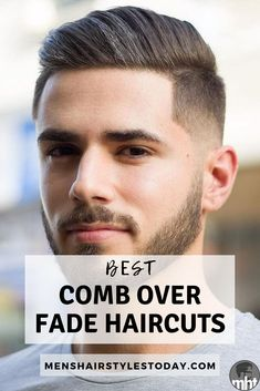 Comb Over Fade Haircuts: Cool Men's Hairstyles Find The Best Comb Over Hairstyles and Fade Haircuts For Men - These Trendy Short and Long Comb Over Fade Styles Look Good with High, Low, Mid, Skin, and Taper Fade Men's Haircuts. Trendy Mens Hairstyles, Great Hairstyles, Undercut Hairstyles, Men Undercut, Mid Fade Undercut, Modern Hairstyles, Hairstyle Ideas, Comb Over Fade Haircut, Taper Fade Haircut