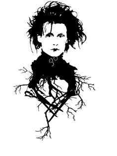 Edward Scissorhands by Henyamaoka on DeviantArt Estilo Tim Burton, Tim Burton Style, Tim Burton Art, Eduardo Scissorhands, Edward Scissorhands Tattoo, Johnny Depp, Art Sketches, Art Drawings, Mangas Tattoo