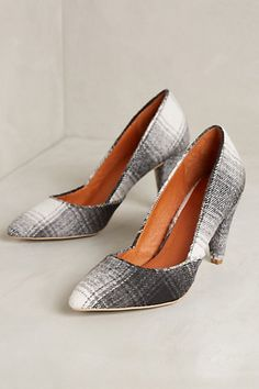 Schuler & sons plaid pumps @ anthropologie like a hug in a fuzzy blanket!