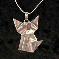 Origami silver jewelry = cool!