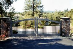 like the varied textures Driveway Gate, Fence Gate, Fences, Custom Gates, Entrance Gates, Landscape Architecture, The Outsiders, Castle, Deck