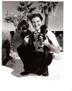 Young Liberace and poodles