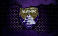 Download wallpapers Al Ain, 4k, logo, UAE League, soccer, football club, UAE, Al Dhafra SCC, grunge, metal texture, Al Ain FC