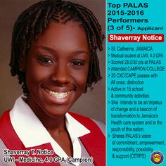 © Peace and Love Academic Scholarship, Inc. (PALAS): SHAVERRAY NOTICE, Top PALAS  2015-2016 Performers ...