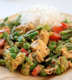 Greek Yogurt Chicken Curry Trim Healthy Mama Approved-  With Quinoa or Brown rice(E) or without a (S).