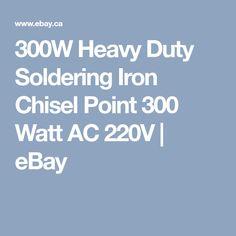 300W Heavy Duty Soldering Iron Chisel Point 300 Watt AC 220V | eBay Branding Iron, Soldering Iron, Stamps, Ebay, Seals, Postage Stamps, Stamp, Soldering