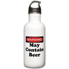 Warning May Contain Beer Water Bottle > Warning May Contain Beer > Rude Arse Shirts