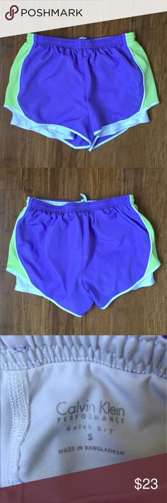 Calvin Klein women's running shorts Excellent condition. No stains, tears or flaws. Ships within 24 hours of purchase. Expect the receive item with 2-4 days. Use bundle button to get 20% off bundles of 3 or more from my closet! Calvin Klein Shorts