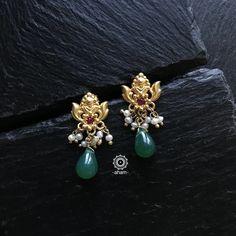 Buy Earrings, Jewelry Design Earrings, Gold Earrings Designs, Ear Jewelry, Gold Designs, Earrings Online, Simple Earrings, Jewellery Designs, Necklace Designs