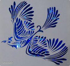 Вырезание, Вырезание силуэтное, Вытынанка: птицы Бумага. Фото 1