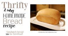 After a lot of trial and error, I've settled on this recipe as my FAVORITE homemade bread recipe. I love to make this bread in the cooler months when I'm stuck inside more and feeling domestic!