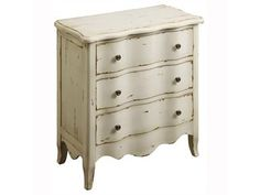 Shop for Coast to Coast Accents 3 Drawer Chest, 39629, and other Bedroom Chests and Dressers at Osmond Designs in Orem Lehi & Salt Lake City, Utah. Artistically painted to resemble the look of years of use, this three-drawer chest is beautiful and functional. The simple, straight lines contrast with the scallop top and skirt and the undulating curves of the drawers provide more character.