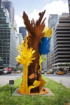 Between the Shadows, 2013 53rd Street and Park Avenue New York, New York  https://artcommission.com/portfolio/albert-paley/1092