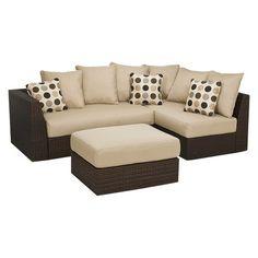 Atlantis 3-Piece Patio Sectional Conversation Furniture Set