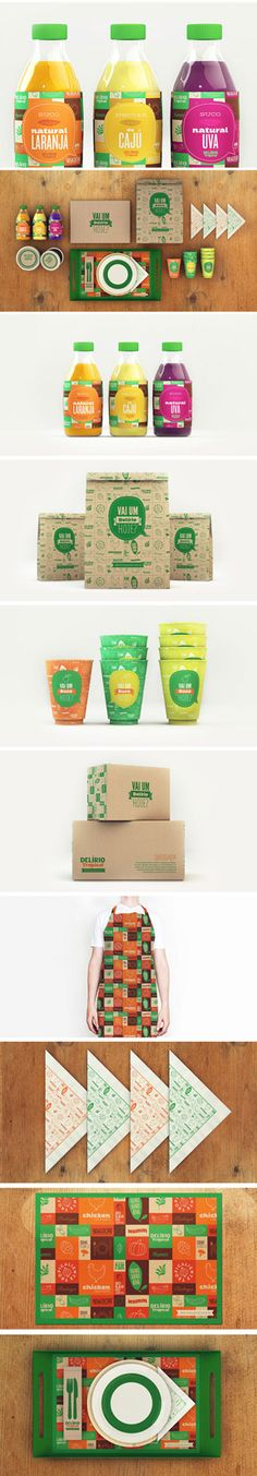 Designed by Isabela Rodrigues of Sweety Branding Studio in Brazil, Delírio Tropical is an important restaurant located in Rio de Janeiro - focused on salads and natural products.