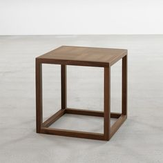 'Frame' Square Side Table in Walnut - Tables