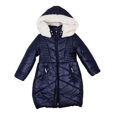 ebed1108099 Mayoral Girl s Navy Padded Coat - Young Timers Boutique