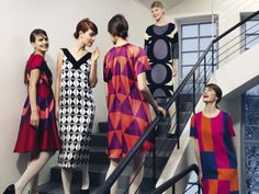 Marimekko´s holiday mood Geometric Fashion, Cool Style, My Style, Marimekko, Textile Design, Fashion Prints, Frocks, Fashion Outfits, Fashion Tips
