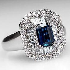Blue Sapphire Ballerina Cocktail Ring