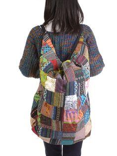 2 in 1 Patchwork Cotton Backpack & Shoulder Bag - Forgotten Tribes