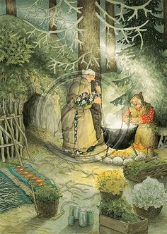 Risultati immagini per inge look old ladies Art And Illustration, Old Lady Humor, Nordic Art, Whimsical Art, Old Women, Monet, Illustrators, Art Drawings, Fairy Tales