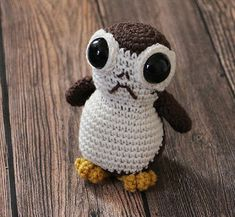 gratis free:Porg! Crochet Pattern As soon as I saw the trailer for the new Star Wars episode I knew I would be making a porg.