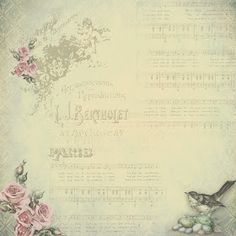 Vintage / Spring time 12 x 12 paper. Print any size you want for personal use Vintage Labels, Vintage Cards, Vintage Paper, Vintage Images, Background Vintage, Paper Background, Music Background, Backgrounds Wallpapers, Vintage Backgrounds