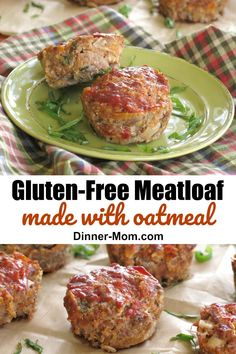Gourmet Meatloaf with Mozzarella and Sundried Tomatoes This amazing meatloaf is made with oatmeal so it's gluten-free and is packed with cheese, basil and sundried tomatoes so it's DELICIOUS! Make traditional or muffin size servings. Gourmet Meatloaf Recipe, Gluten Free Meatloaf, Meatloaf Recipes, Gourmet Recipes, Healthy Recipes, Meatball Recipes, Delicious Recipes, Free Recipes, Low Carb Appetizers