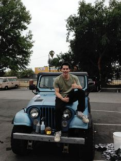 Dylan O'Brien and that jeep