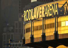 Rod Laver Arena at dusk. Places In Melbourne, Australian Open Tennis, Rod Laver Arena, Dusk, Cruise, Victoria, Travel, Voyage, Cruises