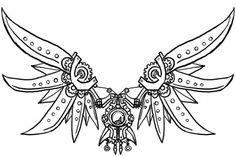Steampunk Gears Coloring Pages - Bing images Steampunk Wings, Steampunk Bird, Steampunk Clock, Steampunk Design, Steampunk Drawing, Steampunk Artwork, Elephant Tattoo Design, Elephant Tattoos, Gear Tattoo
