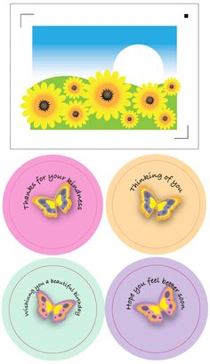 Die Cut Sunflower Card & Butterfly Thank You Card with Free Print and Cut Files Silhouette Cameo Vinyl, Silhouette Projects, Free Silhouette, Silhouette Studio, Paper Cutting Machine, Sunflower Cards, Free Prints, Print And Cut, Svg Cuts